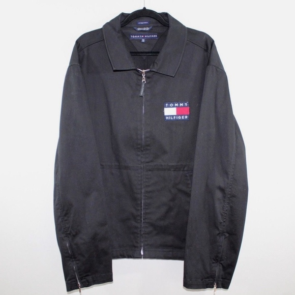 e20fc54372f721 Tommy Hilfiger Jackets & Coats | Vintage 90s Spell Out Bomber Jacket ...